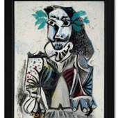 Pablo Picasso's Buste d'homme lauré (1969) sold for HK$61 million / US$7.8 million, confirming the artist's immense popularity in Asia