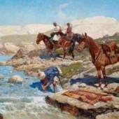 Maler Franz Roubaud (1856-1928) Kompositionen, welche tscherkessische Reiter