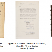 Sotheby's December Auctions of Books & Manuscripts Total $6.1 Million