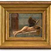 Édourd-Bernard Debat-Ponsan (1847-1913), sketch for Le Massage - Scène de Hammam (1883), sold by Bagshawe Fine Art