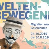 Plakat: WELTENBEWEGEND. Migration macht Geschichten