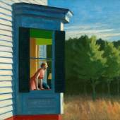 Abbildung: Edward Hopper, Cape Cod Morning, 1950, Öl auf Leinwand, 86,7 × 102,3 cm, Smithsonian American Art Museum, Gift of the Sara Roby Foundation, © Heirs of Josephine Hopper / 2019, ProLitteris, Zürich, Foto: Smithsonian American Art Museum, Gene Young