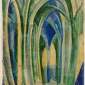Robert Delaunay, St. Severin, 1910, Franz Marc Museum, Dauerleihgabe aus Privatbesitz