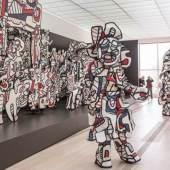 """Abbildung: Installationsansicht der Ausstellung """"Jean Dubuffet – Metamorphosen der Landschaft"""", Coucou Bazar, 1972-1973, Collection Fondation Dubuffet, Paris, © 2015, ProLitteris, Zürich; Foto: Matthias Willi"""