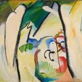 Wassily Kandinsky, St. Georg, 1910, Franz Marc Museum, Dauerleihgabe aus Privatbesitz