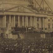 An Extremely Rare and Historically Important Photograph of 'The First Inaugural of Abraham Lincoln, 4 March 1861'