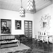 A view of the living room at Villa Borsani, photograph by Elio Luxardo, c 1945