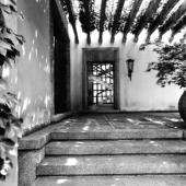 Exterior view, Villa Borsani, photograph by Elio Luxardo, c 1945