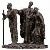 Mahmoud Mokhtar, Three Beggars, bronze, circa 1929-1930 (est. £80,000 – 120,000)