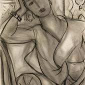 Henri Matisse, Portrait of Mary Hutchinson, 1936, charcoal and estompe on paper, 66.4 by 50cm  (est. £2,000,000-3,000,000)