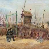 Scène de rue à Montmartre (Impasse des deux frères et le Moulin à Poivre), 1887 (est. €5-8 million)