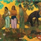 Paul Gauguin, Rupe Rupe, 1899, La cueillette des fruits, Obsternte, Öl auf Leinwand, 128 x 190 cm, Staatliches Museum für Bildende Künste A.S. Puschkin, Moskau, Foto: © Staatliches Museum für Bildenden Künste A.S. Puschkin, Moskau