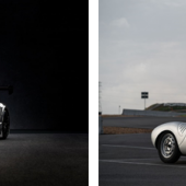 2017 Mercedes-AMG GT3 'Laureus', offered to benefit the Laureus Sport for Good Foundation (Courtesy of RM Sotheby's) , 1957 Porsche 550A Spyder (Karissa Hosek © 2018 Courtesy of RM Sotheby's)