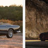 Alloy Ferrari LWB Competition California Spider and Jaguar C-Type