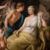Ludwig Guttenbrunn (c1750 -1819), Bacchus and Ariadne (detail), 1779, oil on panel, Benappi Fine Art