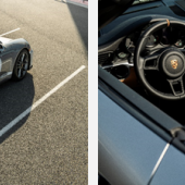 Porsche 911 Speedster, rear (Credit - Courtesy of Porsche Cars North America); Porsche 911 Speedster, interior (Credit - Courtesy of Porsche Cars North America)