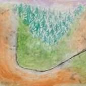 Paul Klee (1879-1940), Landscape in the Lower Alps, oil on paper, Stephen Ongpin Fine Art