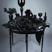 Lipman, CANDLESTICKS, BOOKS, FLOWERS AND FRUIT, 2010 glass/mixed media 56 x 59 x 40 inches Photo: Robb Quinn