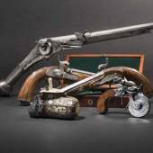 Reiches Angebot Alte Waffen, Ganzmetall- Radschlosspistole aus Nürnberg, 1570,  dafür SP: 25000 Euro