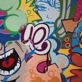 "Crash Spray Enamel on Canvas 81 3/4"" x 104"" 2011 ""Screamer"" - Art Link International"