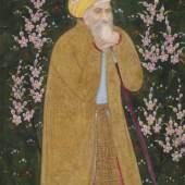 Selbstportrait des Malers Farrukh Beg Mogul, ca. 1610 Pigmentmalerei auf Papier 14.7 x 7.3 cm (bemalte Fläche) Sammlung Eva und Konrad Seitz Foto: Rainer Wolfsberger