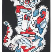JEAN DUBUFFET (1901-1985) Cafetière V, 1965 vinyl paint on paper laid on canvas 104 x 68.8 cm. (40 15/16 x 27 1/16 in.) £500.000 – 700.000 * €550.000 – 750.000 *