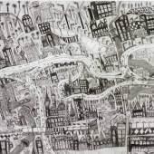 Leonhard Fink, Die Karte der Stadt Linz in Oberösterreich, 2014 © galerie gugging Bildquelle: Museum Gugging