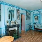 Der kleine blaue Salon im Haus von Claude Monet in Giverny © Fondation Claude Monet, Giverny