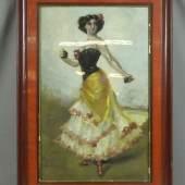 """VON KAULBACH, FRIEDRICH AUGUST (München 1850-1920 Ohlstadt bei Murnau), Gemälde: """"Tänzerin mit Kastagnetten"""""""