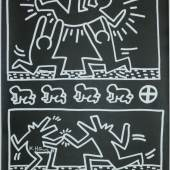 "948  Keith Haring, ""Keith Haring Drawings"", signiertes Ausstellungsplakat, Tony Shafrazi Gallery 1982, o. Rahmen 300 €"