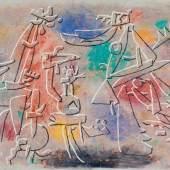 Willi Baumeister Relief-Bild farbig 1952 Öl mit Kunstharz auf Hartfaser 65 x 81cm Ergebnis: 153.600 Euro