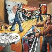 Jörg Immendorff: Auf geht's, 1976. Kunstharz auf Leinwand Bildmaß: 150 x 130 cm © The Estate of Jörg Immendorff, Courtesy Galerie Michael Werner, Märkisch Wilmersdorf, Köln & New York Foto: Egbert Trogemann © VG Bild-Kunst, Bonn 2016