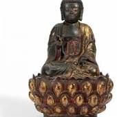 Amitabha Buddha auf hohem Lotossockel Bronze China Ming-Zeit (1368-1644) Höhe: 46cm Ergebnis: 33.280 Euro