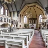 Inneres der Kreuzkirche in Wandsbek © R. Rossner/Deutsche Stiftung Denkmalschutz