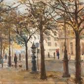 Irène Zurkinden (1909-1987), Place St. Sulprice, 1964, Öl auf Karton, 29,9 x 48 cm
