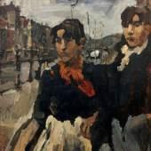 Isaac Israels, Zwei Mädchen an der Lijnbaansgracht, um 1894, Foto: John Stoel
