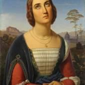 Ittenbach, Franz (1813 Königswinter - 1879 Düsseldorf, Bildnis einer Florentinerin. Limitpreis: 8.000 €