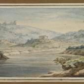 "Johann W. von Goethe ""Tiberlandschaft""  Aquarell | 11 x 19 cm  Ergebnis: 204.800 Euro"