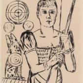 Schießbude, 1921 Kaltnadelradierung, 31,8 x 24,8 cm aus: Der Jahrmarkt, Blatt 4 Privatbesitz