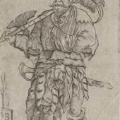 """Jakob Binck (zw. 1494 und 1500–1569), """"Verwundeter Hellebardier in zerrissener Kleidung"""", aus der Reihe """"Offiziere und Soldaten"""", 1555,  Kupferstich, Alte Galerie  Jakob-Binck-Verwundeter-Hellebardier-in-zerrissener-Kleidung.jpg (2.56 MB)"""