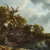 Josse de d.J. Momper Felslandschaft mit Heilung des Naaman Öl auf Holz | 61 x 95cm Taxe: €100.000 – 120.000