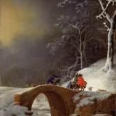 Winterlandschaft mit Jägern auf einer Brücke Jan Asselijn Um 1647 Leinwand auf Holz, 49,7 x 35,3 cm © Paris, Fondation Custodia, Collection Frits Lugt