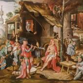 Jan Mandyn (1502–um 1560): Die Verspottung des Hiob, 16. Jahrhundert, Privatsammlung, Niederlande