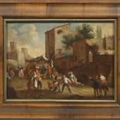 Jan Miel (1599 Beveren - 1663 Turin) Volksfest auf dem Marktplatz einer italienischen Stadt Mindestpreis:19.000 EUR
