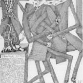 """Paradoxe """"Von der Überlegung"""" (856 KB) Horst Janssen (1929-1995) 1967 Aus einer Folge von 6 Federzeichnungen zu den """"Berliner Abendblättern"""" © Kleist-Museum, Frankfurt (Oder)"""