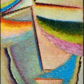 Alexej Jawlensky Abstrakter Kopf 1933 | Öl auf Karton 42 x 32cm Erg: €236.800