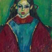 Lot 5 Alexej von Jawlensky Verso: Mädchenbildnis. Um 1910 Öl auf Karton, 53,5 x 64,5 cm Schätzpreis: € 400.000