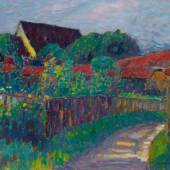 Alexej von Jawlensky Recto: Garten am Bauernhaus. Um 1907 Schätzpreis: € 500.000,-