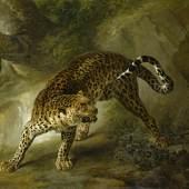 Jean-Baptiste Oudry, Leopard, 1741 (c) Staatliche Schlösser, Gärten und Kunstsammlungen Mecklenburg-Vorpommern