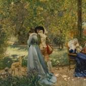 Jean-François Raffaëlli (1850–1924) Scène de parc avec lévrier Öl auf Leinwand 31 x 39 cm Schätzpreis:10.000 - 15.000 CHF